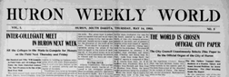 Huron Weekly World newspaper archives