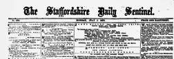 Stoke On Trent Staffordshire Daily Sentinel newspaper archives