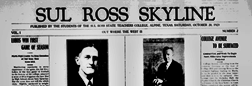 Alpine Sul Ross Skyline newspaper archives