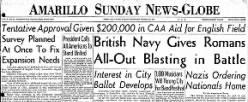 Amarillo News Globe newspaper archives