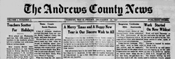 Andrews County News newspaper archives