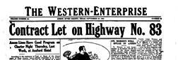 Anson Western Enterprise newspaper archives