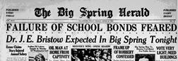 Big Spring Herald newspaper archives