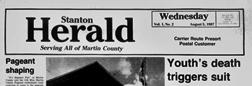 Big Spring Stanton Herald newspaper archives