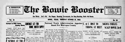Bowie Booster newspaper archives