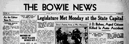 Bowie News newspaper archives