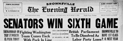 Brownsville Evening Herald newspaper archives