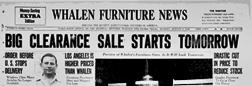 Whalen Furniture News newspaper archives