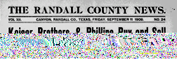 Canyon Randall County News newspaper archives