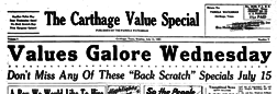 Carthage Value Special newspaper archives