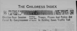 Childress Index newspaper archives