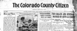 Colorado Citizen newspaper archives