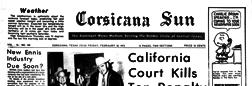 Corsicana Sun newspaper archives