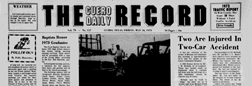 Cuero Daily Record newspaper archives