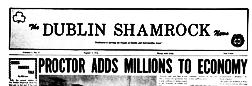 Dublin Shamrock News newspaper archives
