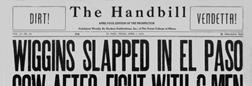 El Paso Handbill newspaper archives