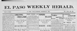 El Paso Weekly Herald newspaper archives