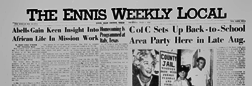 Ennis Weekly Local newspaper archives
