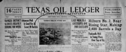Texas Oil Ledger newspaper archives