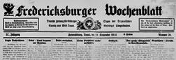 Fredericksburg Fredericksburger Wochenblatt newspaper archives