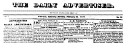 Daily Advertiser Galveston Texas newspaper archives