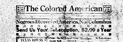 Galveston Colored American newspaper archives