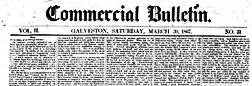 Galveston Commercial Bulletin newspaper archives