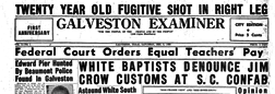Galveston Examiner newspaper archives