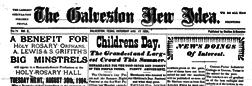 Galveston New Idea newspaper archives