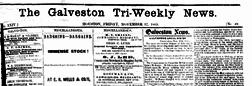 Galveston News Tri Weekly newspaper archives