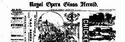 Galveston Royal Opera Glass Herald newspaper archives