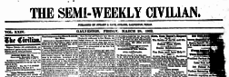 Galveston Semi Weekly Civilian newspaper archives