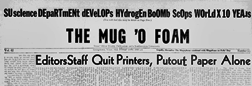 Georgetown Mug A Foam newspaper archives