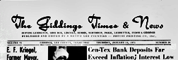 Giddings Times And News newspaper archives