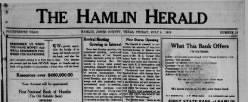 Hamlin Herald newspaper archives