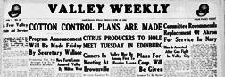 Harlingen Valley Weekly newspaper archives