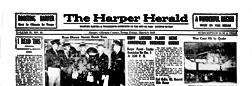 Harper Herald newspaper archives