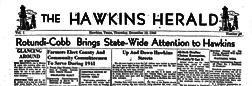 Hawkins Herald newspaper archives