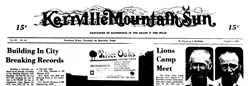 Kerrville Mountain Sun Ingleside Texas newspaper archives