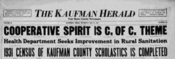 Kaufman Herald newspaper archives