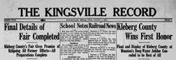 Kingsville Record newspaper archives