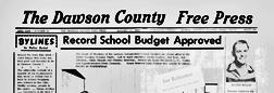 Lamesa Dawson County Free Press newspaper archives
