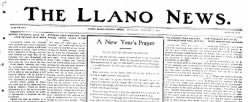 Llano News newspaper archives