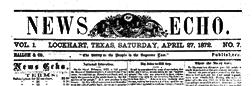 Lockhart News Echo newspaper archives
