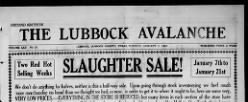 Lubbock Avalanche newspaper archives