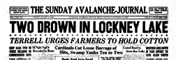 Lubbock Sunday Avalanche Journal newspaper archives