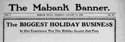 Mabank Banner newspaper archives