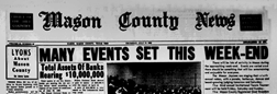 Mason County News newspaper archives