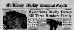 Mckinney Weekly Democrat Gazette newspaper archives