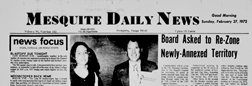Mesquite Daily News newspaper archives